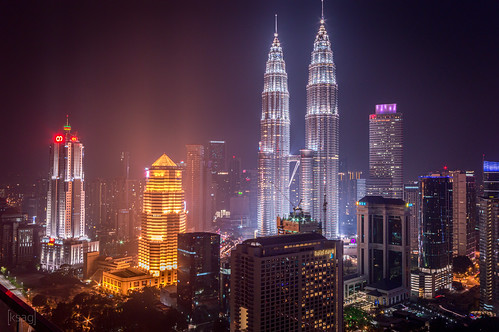 kualalumpur malaysia asia southeastasia capital city urban skyscraper landscape night nightphotography hdr building engineering architecture colour nikon june 2015 petronastowers cityscape skyline happyplanet asiafavorites