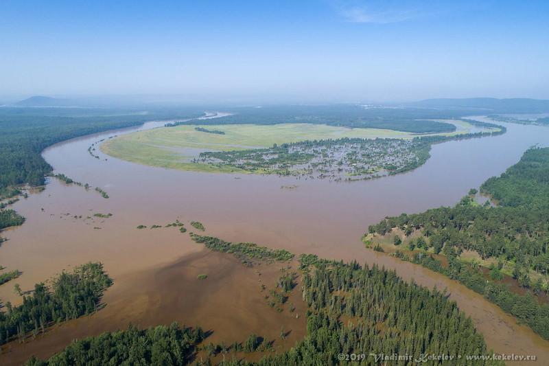 р. Чуна, Наводнение 2019 / R. Chuna, Flood 2019 •  190630_1013_DJI_0049