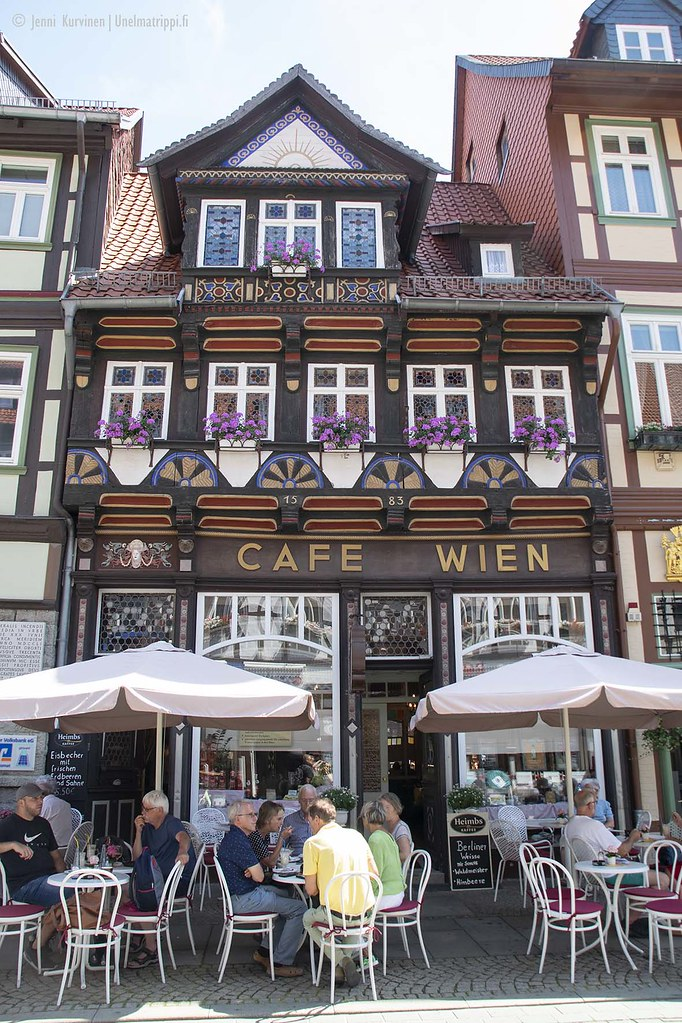 Ristikkotaloja Wernigerodessa, Saksassa