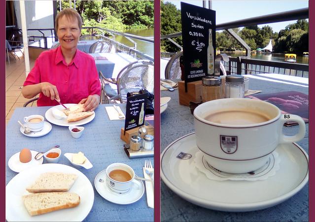 Juni 2019 ... Luisenpark Mannheim: Fernmeldeturm, Gondoletta. Frühstück, Gänse, Reiher, Pelikane, Kunst ... Fotos und Collagen: Brigitte Stolle