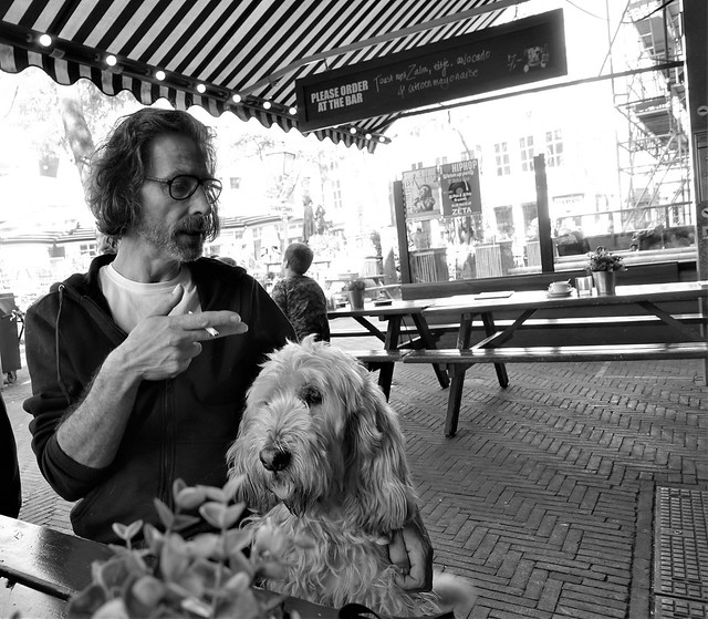 The man and his dog