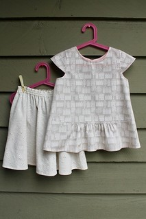 Oliver and S Swingset Skirt and Butterfly Blouse