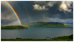 Rainbows and rain over Loch Na Keal