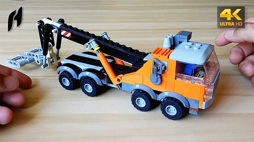 How to Build Lego Heavy Tow Truck (MOC - 4K)