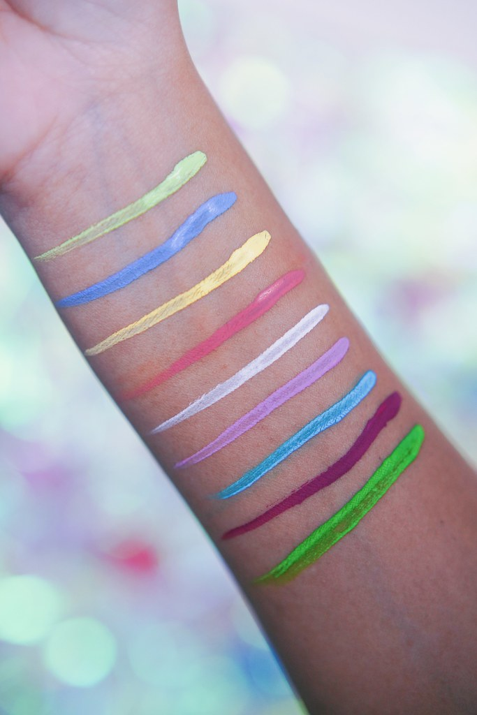 Fenty Beauty Vivid Liners Baewatch Baecae Swatches
