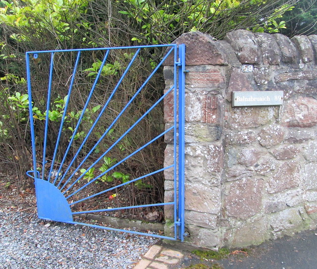 Art Deco House, Inverness, Sunburst Gates