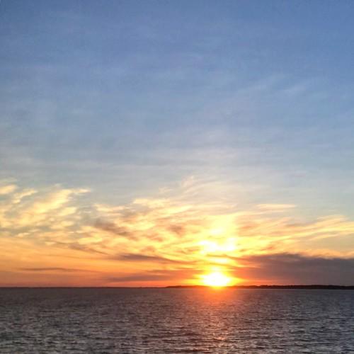 summersolstice sunset albemarlesound nc
