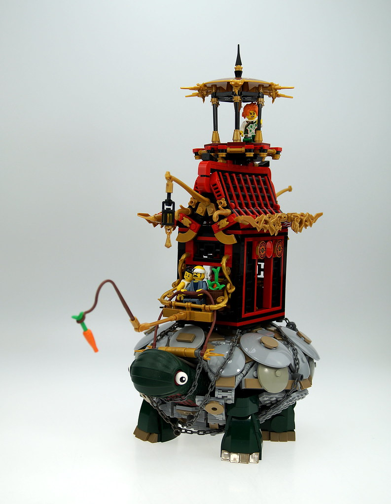 The Wandering Temple Of The Last Flame (custom built Lego model)