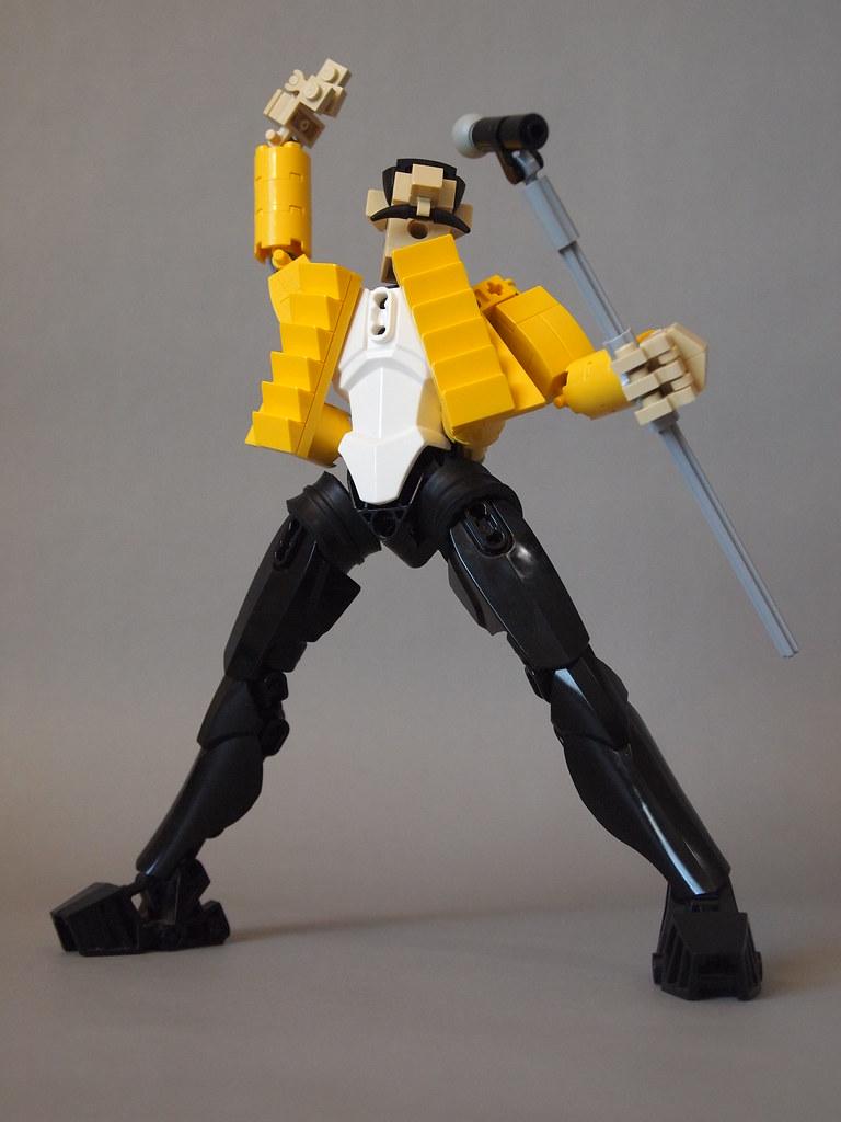 Freddie Mercury (custom built Lego model)