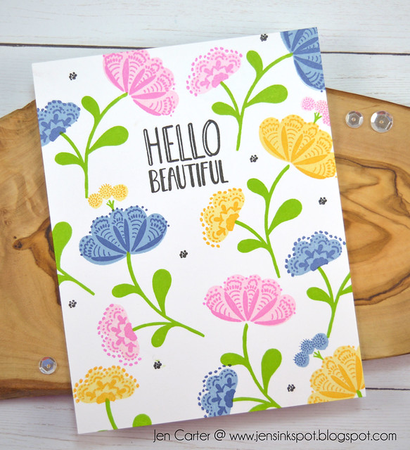 Whimsical Blooms Hello Beautiful Jen Carter One Layer