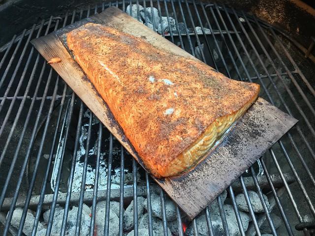 2019 181/365 6/30/2019 SUNDAY - Grilled Salmon On A Cedar Plank