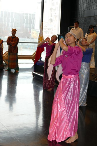 Filipino students from Riccarton Highschool perform the Sarong Dance from Southern Philippines