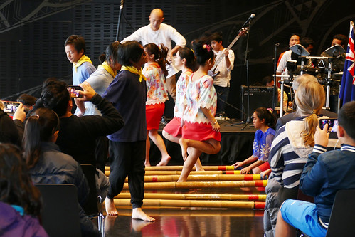 Filipino Cultural Youth Group dancing Tinikling (Bamboo Dance)