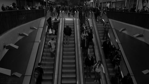 exploration explorer explore discovery discover traveller travel trip adventurer adventure photographer pro world earth landscape land place city cityscape urban urbanscape centralbusinessdistrict central business district downtown streetphotography streetphotos street promenade architectural architecture buildings building facade material machine escalator publictransportation publictransport transportation transport metro subway underground tube station engineering photography photo picture image view panorama panoramic pano wide camera canon canonsx60hs canonphotography black white monochrome shadow dark