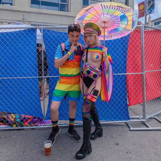 SF Pride 2019: The extension of the courts of the waist or law courts of the shoulder muliebrity dimension against a tennis association