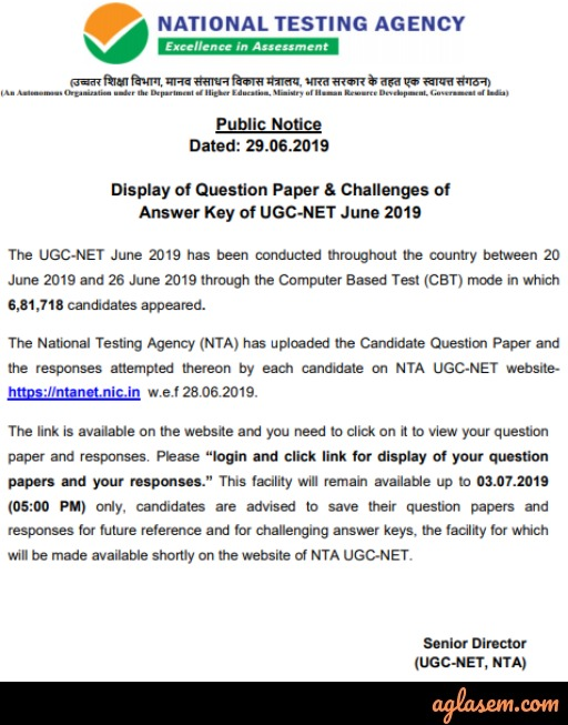 UGC NET Adult Education/ Continuing Education/ Andragogy / Non Formal Education Answer Key 2019 - Download Here for June Exam