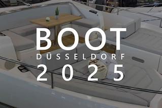 """Luxuriöses Deck eines Boots auf der Wassersportmesse mit dem Bildtitel """"Boot Düsseldorf 2025"""""""