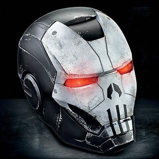 超爆煞氣的頭盔登場!! 孩之寶 漫威傳奇收藏道具《MARVEL未來之戰》制裁者 (戰爭機器裝甲) Punisher War Machine 1:1 比例可穿戴頭盔