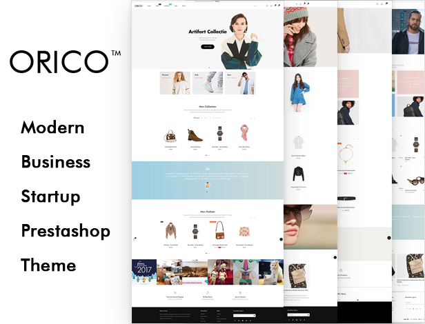 Orico Premium Fashion Prestashop Theme for Unisex Fashion & Accessories