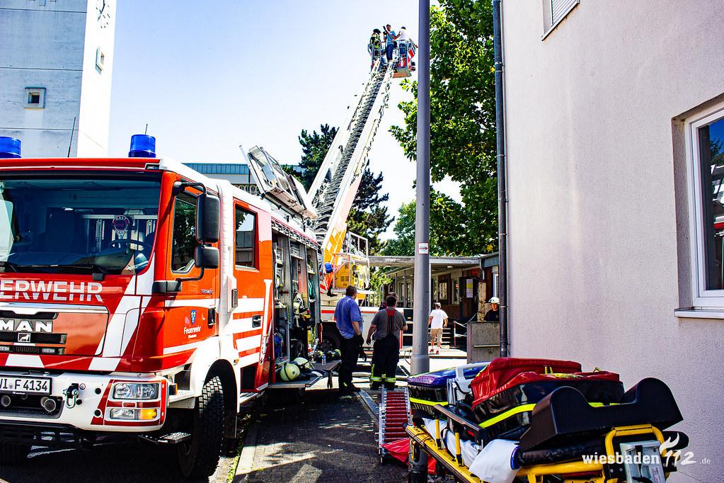Brennende Photovoltaikanlage Schierstein 28.06.19