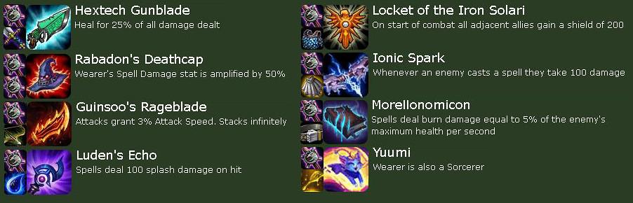 Teamfight Tactics Item Combos, Recipes, Item List and Bonuses