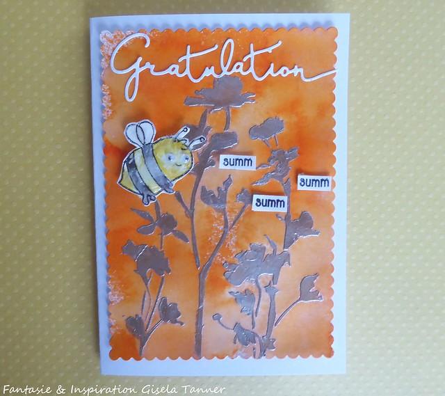 Bienenfreundliche Geburtstagskarte