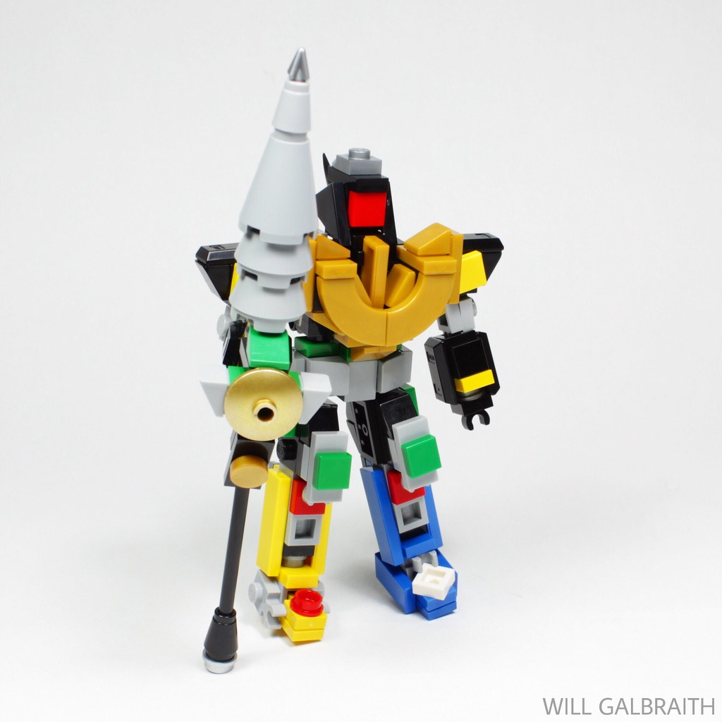 Dragonzord: Battle Mode (custom built Lego model)