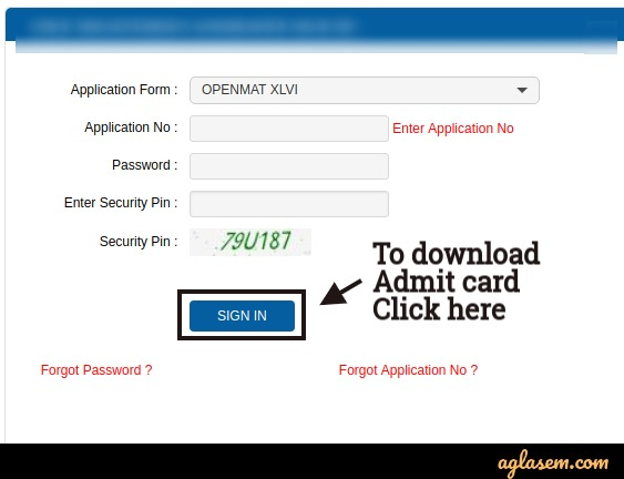 ignou openmat login