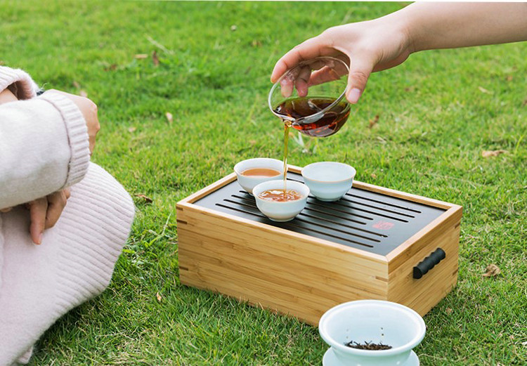 Portable Tea Sets with Bamboo Tea Ware Box for Chinese Gongfu Chadao, Tea Ware Gifts …