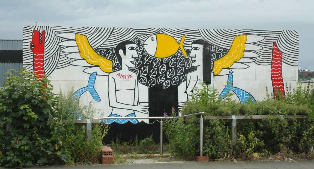 Bezienswaardigheden Newcastle: street art in Ouseburn | Mooistestedentrips.nl