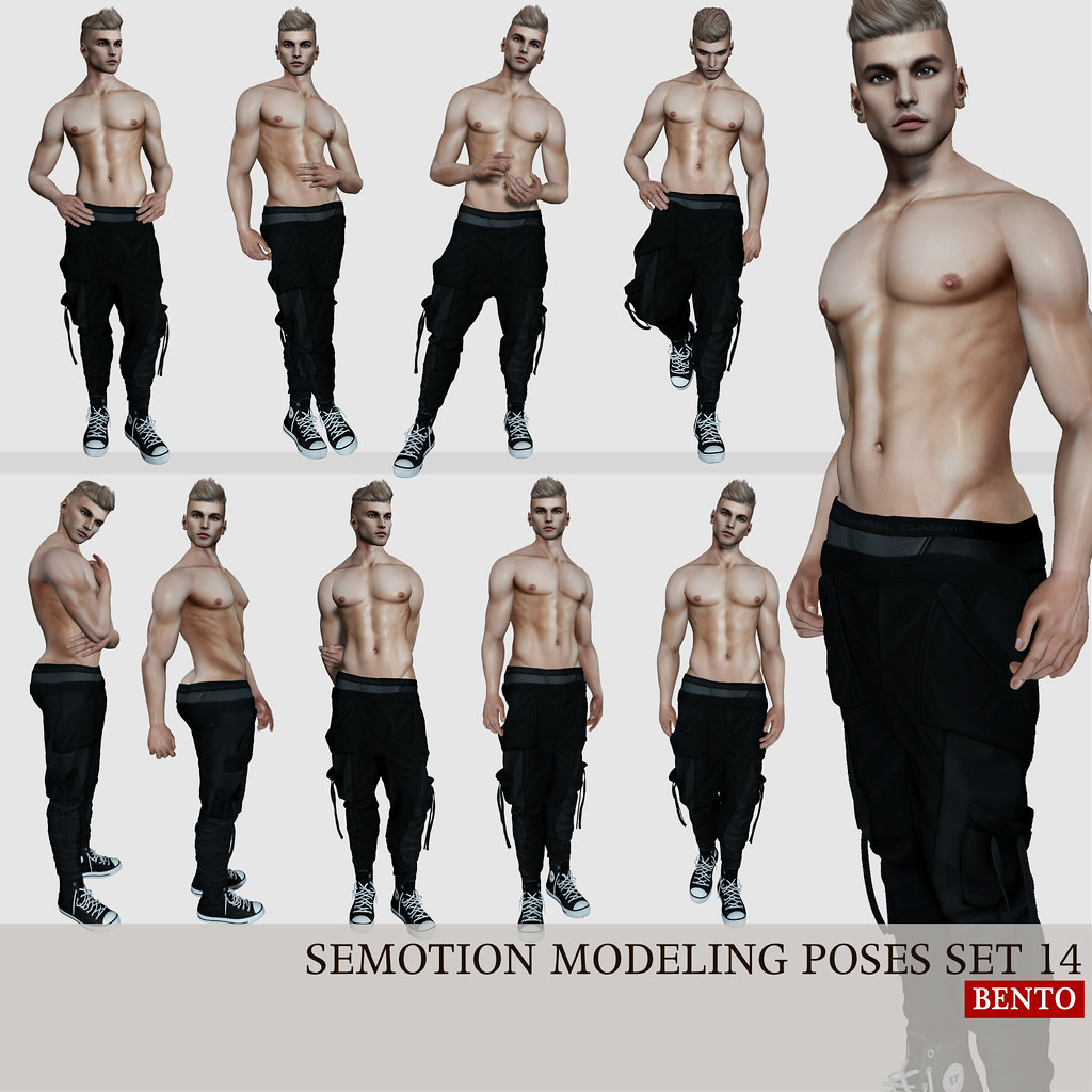 SEmotion Male Bento Modeling poses set 14