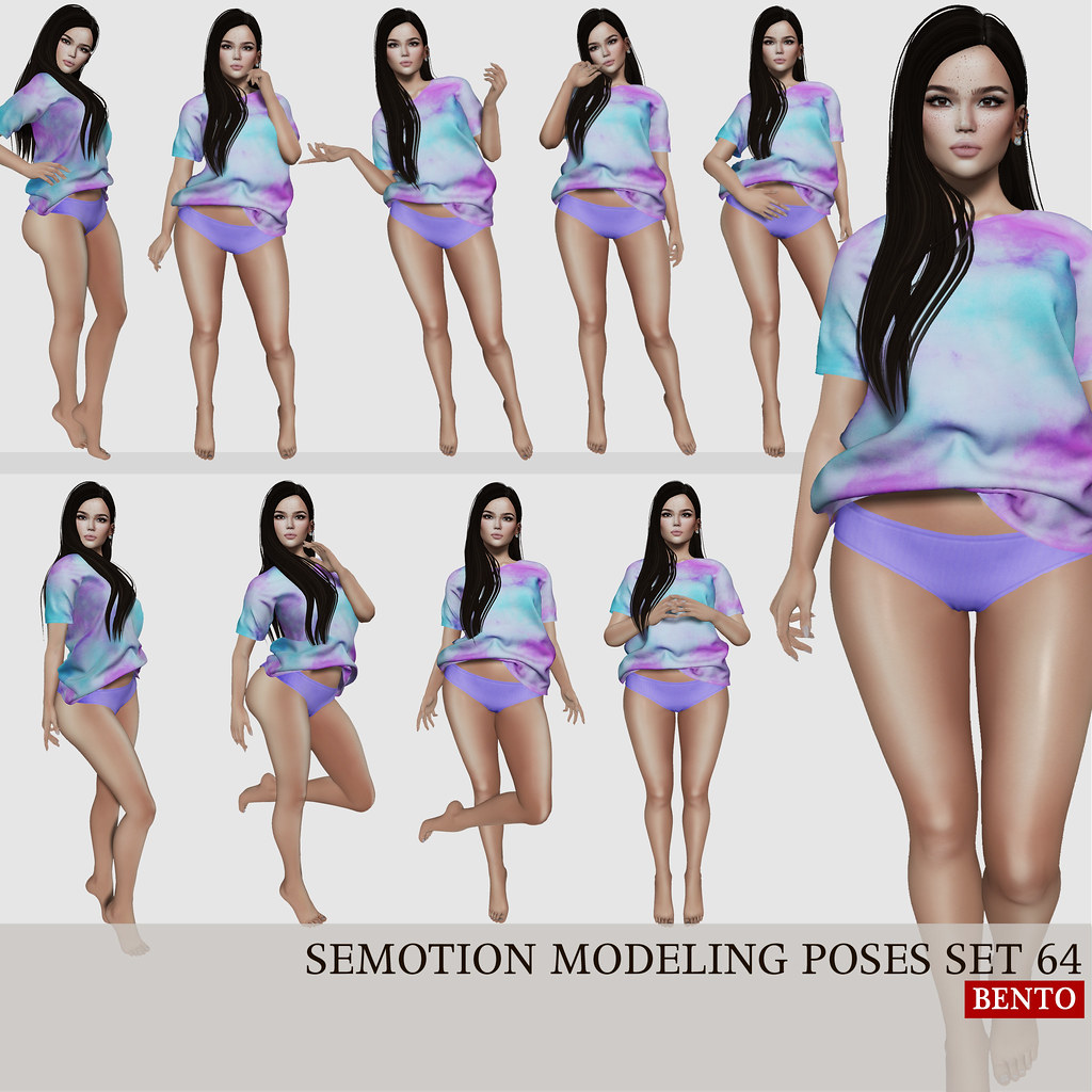 SEmotion Female Bento Modeling poses set 64