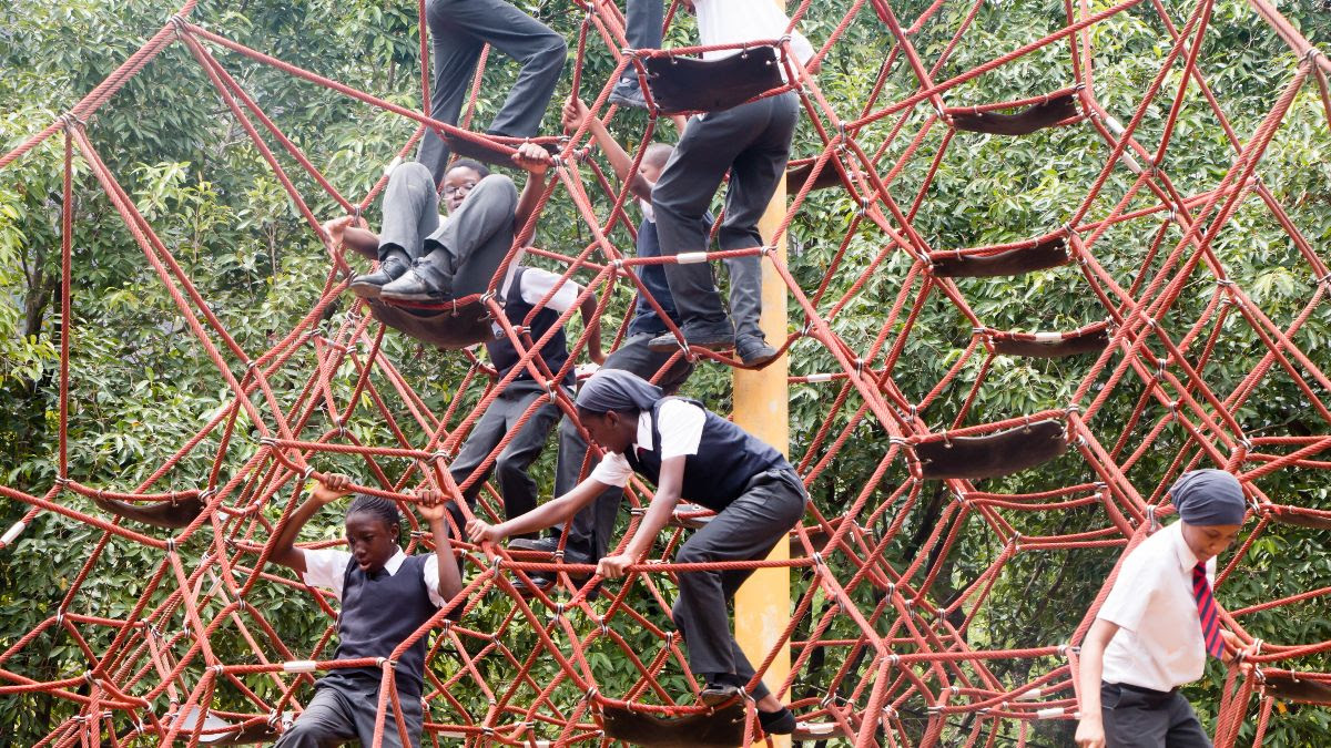 Abuja zoo rope climb