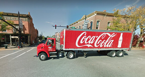 transport coca-cola truck medina ohio usa - united states