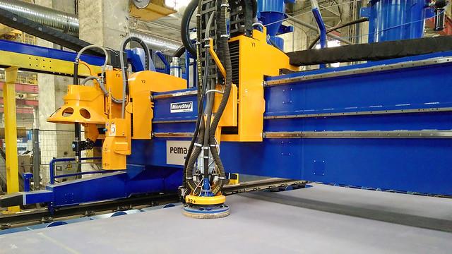 Plasmarotator, Sandblaster-System und Markiereinheit