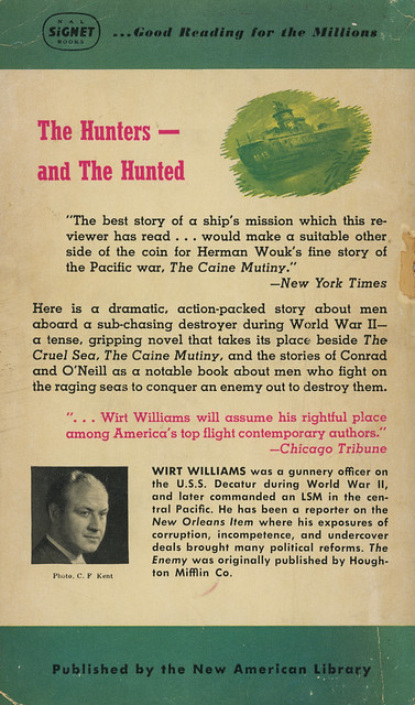 Signet Books S1292 - Wirt Williams - The Enemy (back)