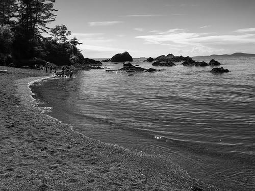 blackandwhitephotography blackandwhitedigital nature beaches waterscape pacificnorthwest rosariobeach monochrome beachactivities niksilverefexpro tidalpools light