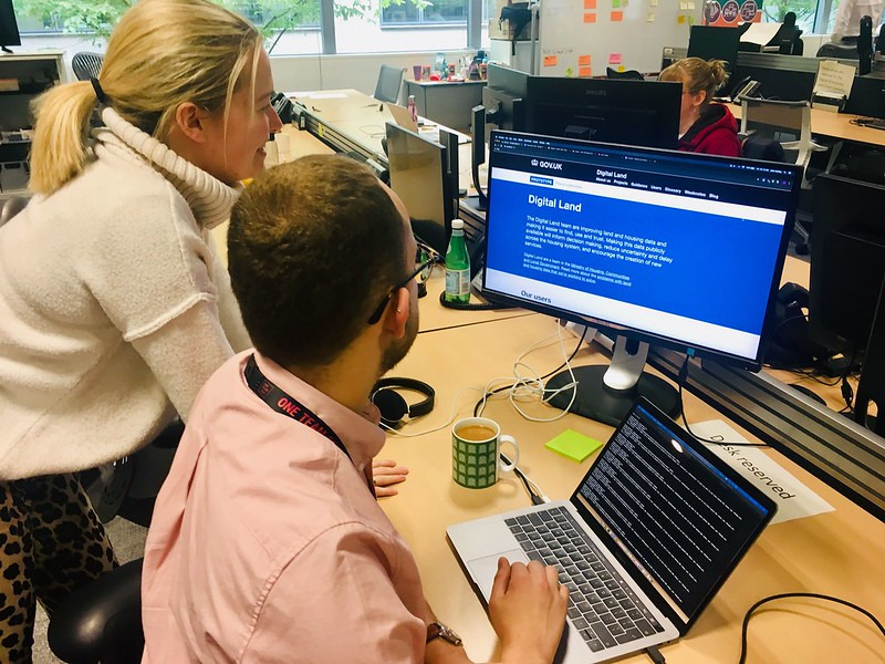 Emily and Jake working on new website design