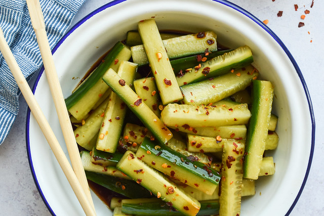 Spicy Chinese Cucumber Side Salad