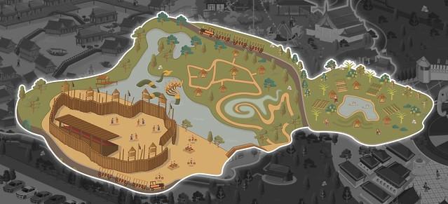The Legend Siam Pattaya Bhumi Pan Din Map