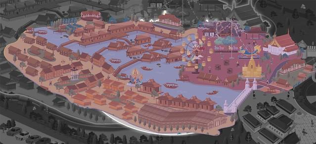 The Legend Siam Pattaya Thai Araya map
