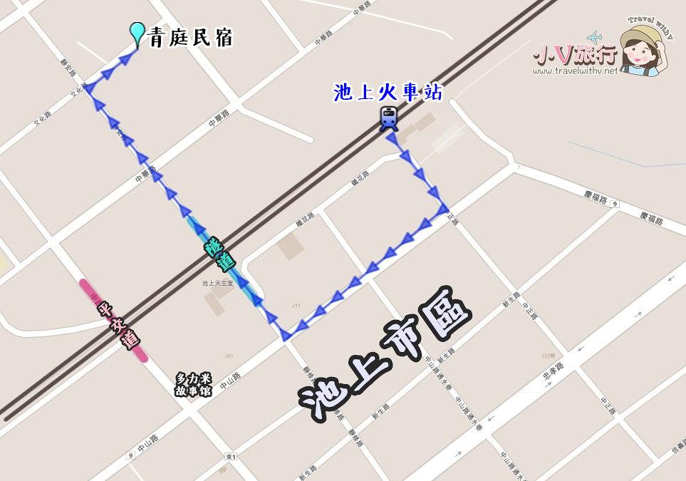 台東池上住宿青庭民宿地圖