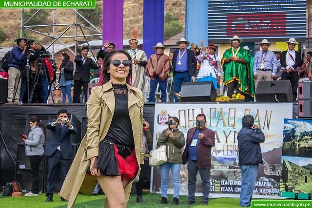 Fabiola Ramos encanto en cusco durante la presentación de Echarati en Huancaro