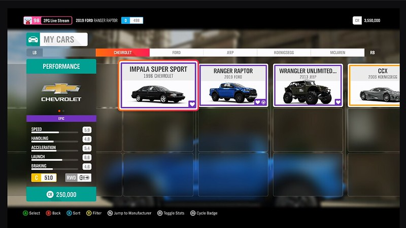 Forza Horizon 4 Car List