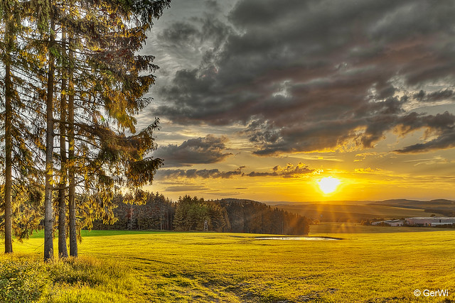 Sonnenuntergang in Thüringen