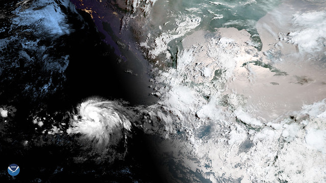 Tropical Storm Barbara Strengthening in the Eastern Pacific