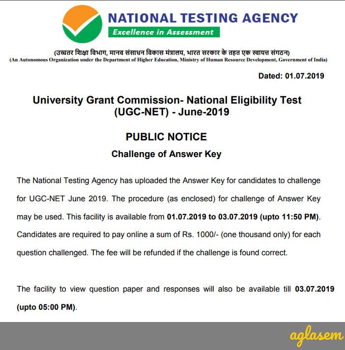 UGC NET Answer Key
