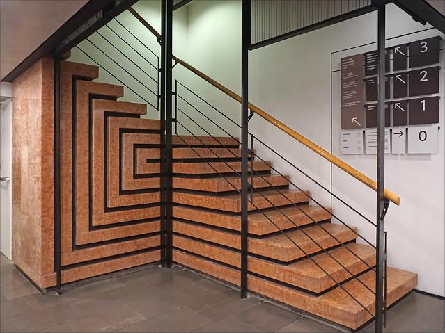 L'escalier conçu par Mario Botta (Fondation Querini Stampalia, Venise)