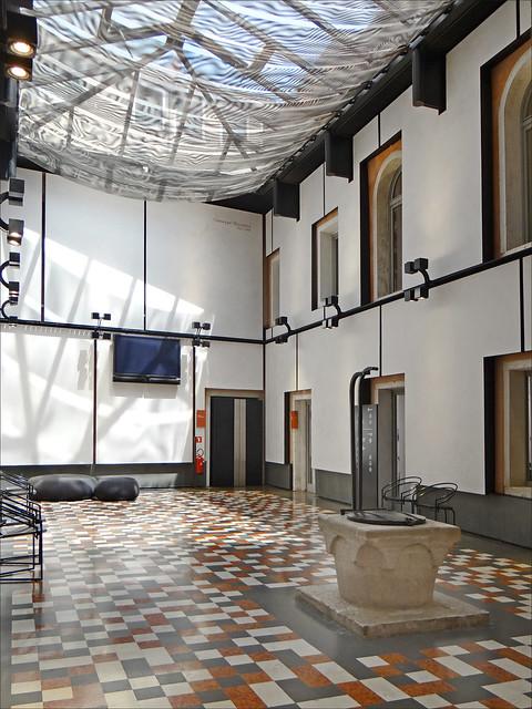 La cour intérieure conçue par Mario Botta (Fondation Querini Stampalia, Venise)
