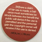 Four factors of fair it use coasters. Copyright